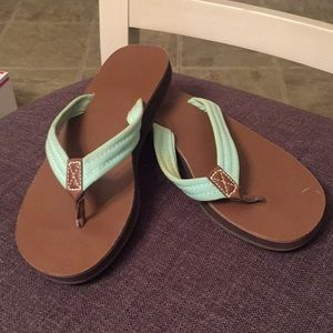 Gap teal and brown sandals! Lightly used!